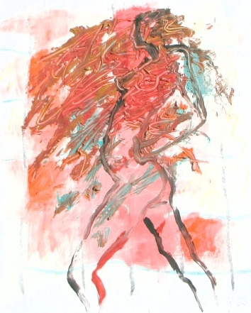 """Nude 3 Backframed"" by Elizabeth Parashis, copyright 2008"