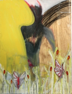 """""""Untitled, no. 10"""" (butterfly spirit painting) by Tim Cottengim, copyright 2009"""