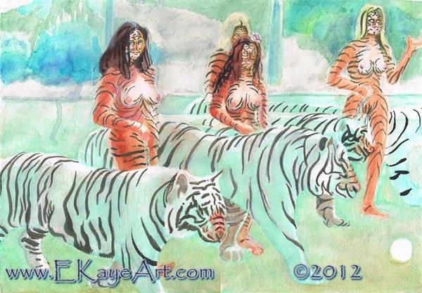 """""""Animals: Tiger Clan"""" by Erik Kaye, copyright 2012"""