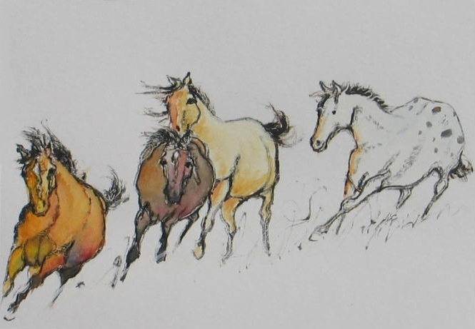 """Four On The Run"" by Elizabeth Parashis, copyright 2012"