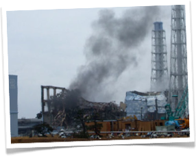 Steam  at Fukishima Nuclear Power Plant , spring 2012