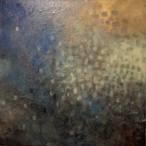 """Mist"" acrylic on canvas by Jennifer Cordiglia, copyright 2016"