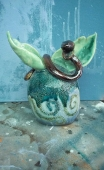 Snake Emerging by Jennifer Cordiglia, coyright 2016 ceramic sculpture