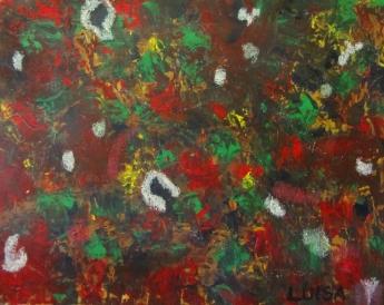 """""""Paixões,"""" painting by Maria Luisa Ramos, copyright 2017"""