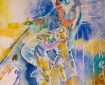 """Jan and Theo,"" watercolor by Erik Kaye, copyright 2017"