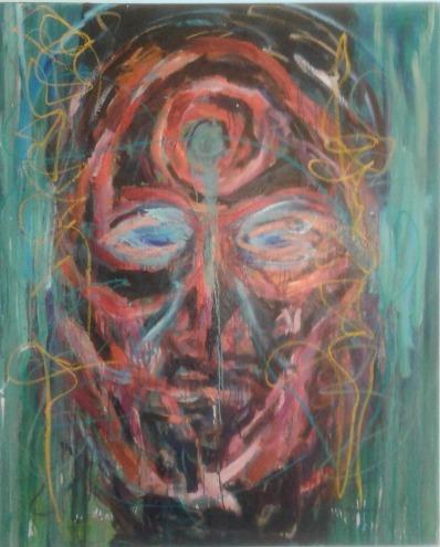 """""""Mask,"""" by Al Preciado, copyright 2009, 2017"""