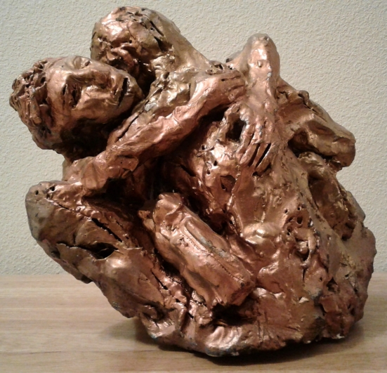 """The Embrace,"" CE sculpture by Al Preciado, copyright 2015"